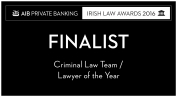 Double Nomination at the Irish Law Awards 2016